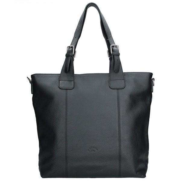 Elegantní dámská kožená kabelka Katana Mia - černá