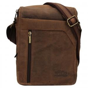 Pánská taška přes rameno Always Wild Norbel - hnědá