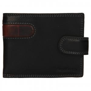 Pánská kožená peněženka SendiDesign Fion - černo-hnědá