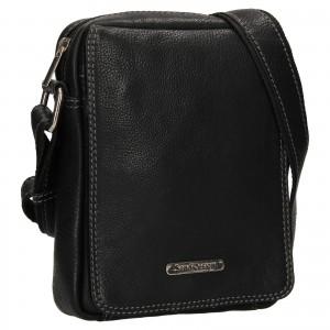 Pánská kožená taška přes rameno SendiDesign Nikk - černá