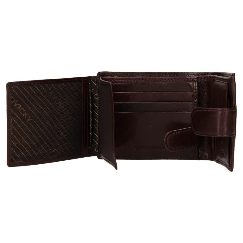 Pánská kožená peněženka Rovicky Fabio - hnědá