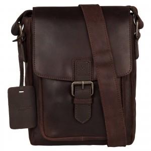 Pánská kožená taška přes rameno Burkely Luke - koňak