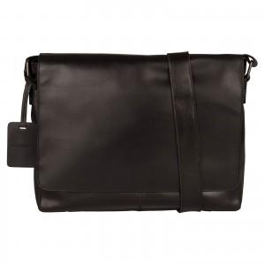 Pánská kožená taška přes rameno Burkely Juul - černá