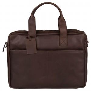 Pánská kožená taška na notebook Burkely Josse - tmavě hnědá