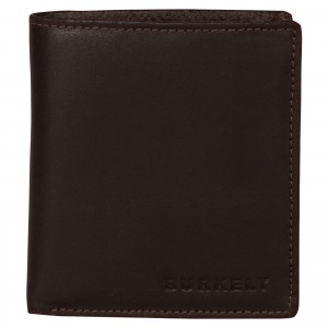 Pánská kožená peněženka Burkely Vintage - tmavě hnědá