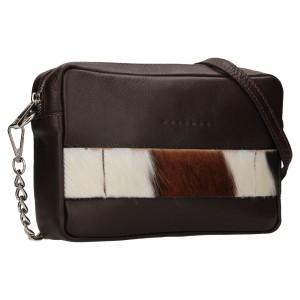 Trendy dámská kožená crossbody kabelka Facebag Ninas - černá (chlup)