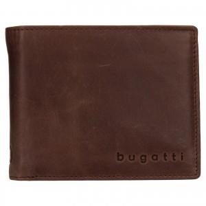 Pánská kožená peněženka Bugatti Michael - tmavě hnědá