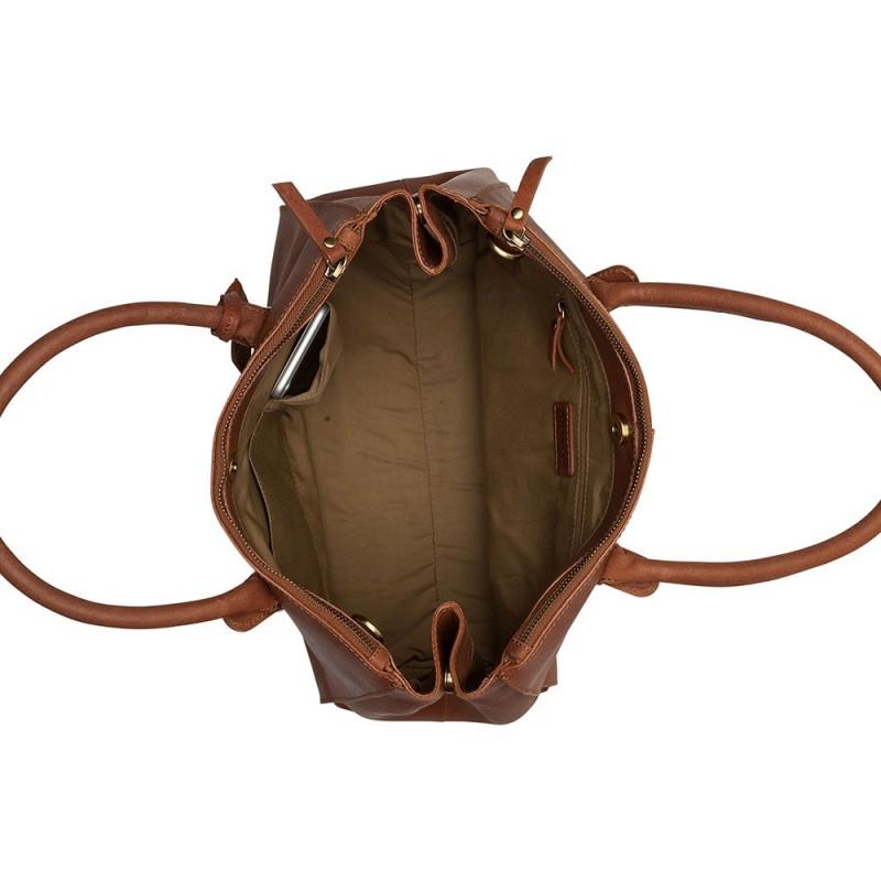 Dámská kožená kabelka Burkely Alice - koňak
