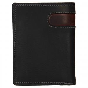Pánská kožená peněženka SendiDesign Ulrich - černo-hnědá