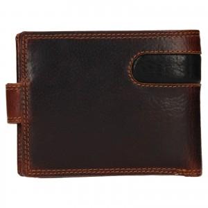 Pánská kožená peněženka SendiDesign Fion - hnědo-černá