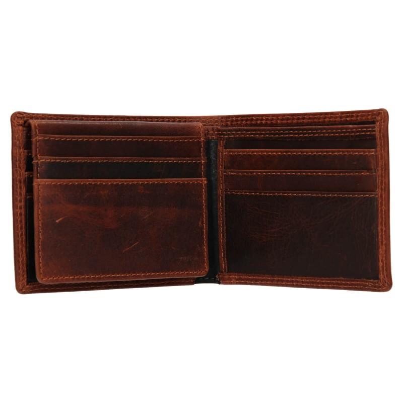 Pánská kožená peněženka SendiDesign Pent - hnědo-černá