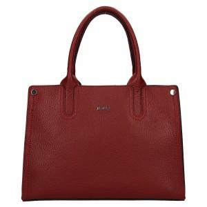 Dámská kožená kabelka Rovicky Marta - tmavě červená