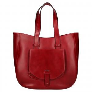 Dámská kožená kabelka Rovicky Alena - červená
