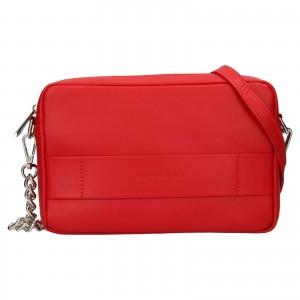 Trendy dámská kožená crossbody kabelka Facebag Ninas - světle červená