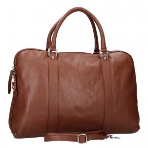 Pánská kožená taška přes rameno Katana Petrson - koňak