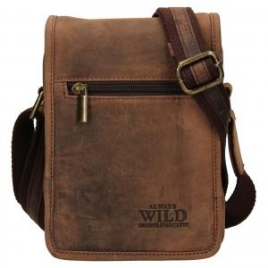 Pánská taška přes rameno Always Wild Igor - hnědá