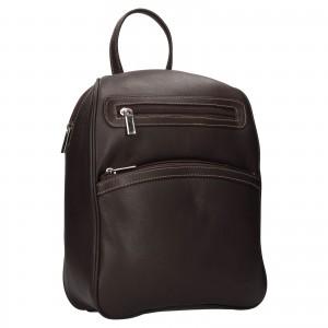 Dámský kožený batůžek SendiDesign 786 - hnědá