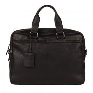 Pánská kožená taška na notebook Burkely Workbag - černá