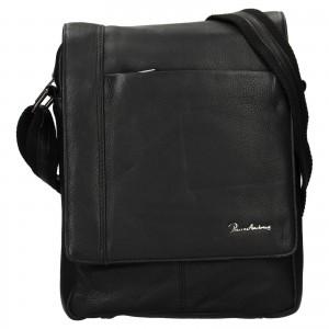 Pánská kožená taška Pierre Andreus Daniel - černá