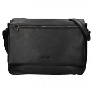Pánská celokožená taška přes rameno Rovicky Vanec - černá