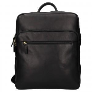 Velký kožený batoh Katana Nice - čierna