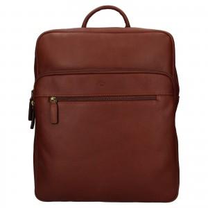 Velký kožený batoh Katana Nice - hnědá