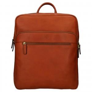 Velký kožený batoh Katana Nice - koňak
