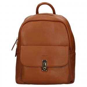 Elegantní dámský kožený batoh Katana Ninna- hnědá