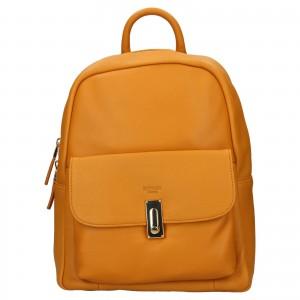 Elegantní dámský kožený batoh Katana Ninna- žlutá