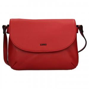 Kožená dámská crosbody kabelka Katana Felipa - červená