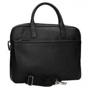 Kožená taška na notebook Katana Talin - černá