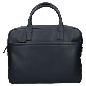 Kožená taška na notebook Katana Talin - tmavě modrá
