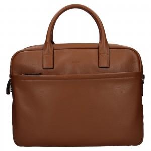 Kožená taška na notebook Katana Talin - koňak