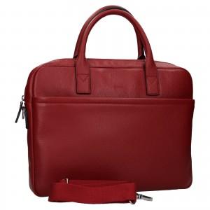 Kožená taška na notebook Katana Talin - tmavě červená