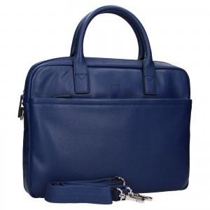 Kožená taška na notebook Katana Talin - světle modrá