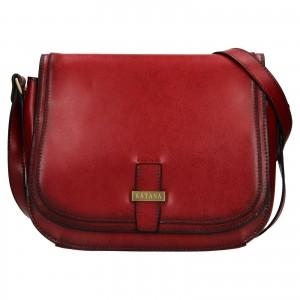Kožená dámská crosbody kabelka Katana Vinoa - tmavě červená