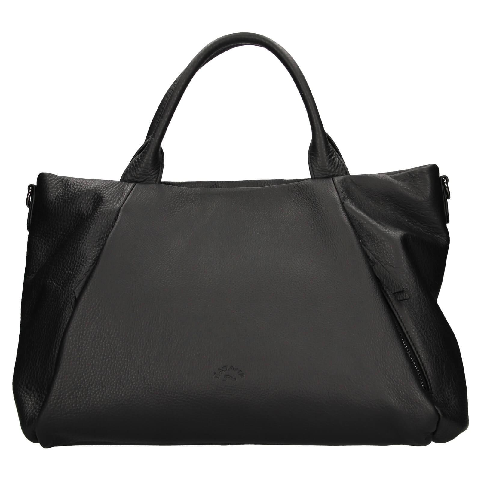 Elegantní dámská kožená kabelka Katana Stella - černá