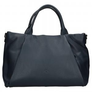 Elegantní dámská kožená kabelka Katana Stella - tmavě modrá