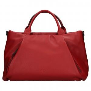Elegantní dámská kožená kabelka Katana Stella - tmavě červená