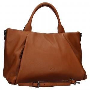 Elegantní dámská kožená kabelka Katana Stella - hnědá