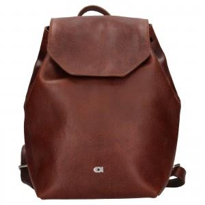 Dámský kožený batoh Daag Fanky GO! 26 - hnědá