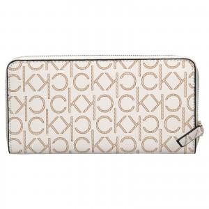 Dámská peněženka Calvin Klein Mono - hnědo-béžová