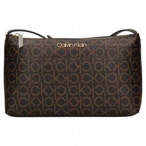 Dámská crossbody kabelka Calvin Klein Leandra - hnědá
