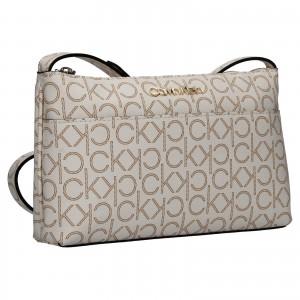 Dámská crossbody kabelka Calvin Klein Leandra - hnědo-béžová