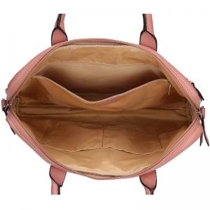 Dámská kožená taška na notebook Katana Emma - růžová