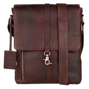 Pánská kožená taška přes rameno Burkely Avery - koňak