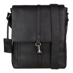 Pánská kožená taška přes rameno Burkely Avery - černá