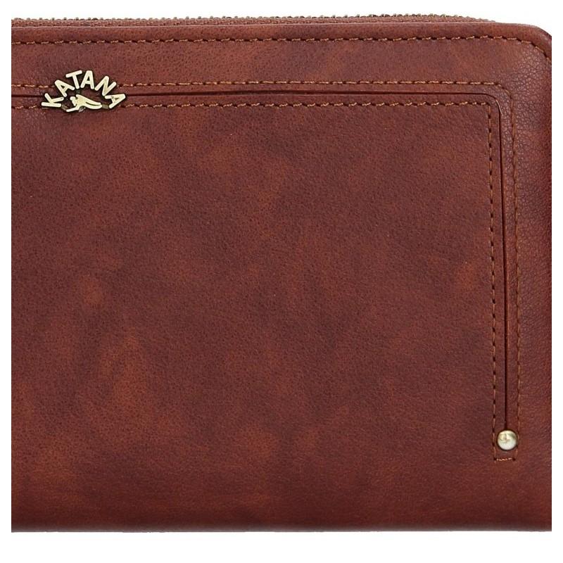 Dámská kožená peněženka Katana Paula - hnědá