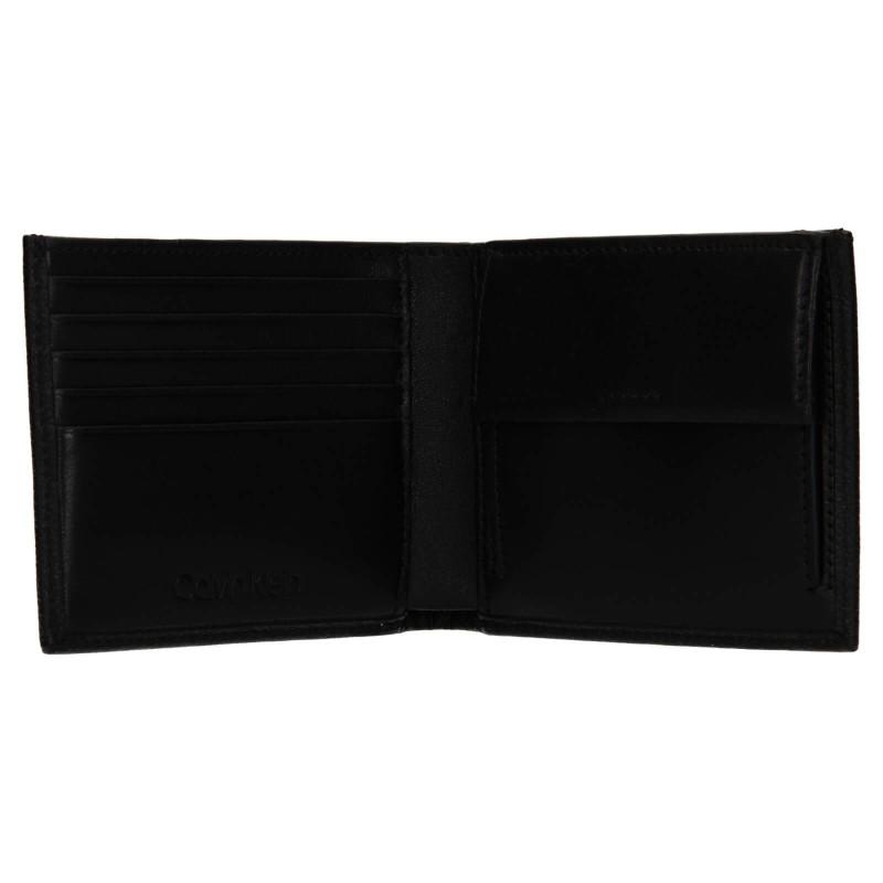 Pánská kožená peněženka Calvin Klein Sebastiane - černá