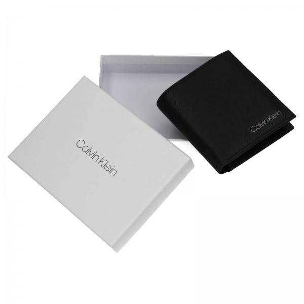 Pánská kožená peněženka Calvin Klein Lione - černá